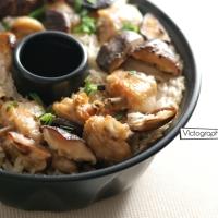 北菇滑雞煲仔飯(光波爐食譜)